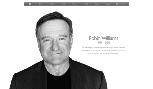 Robin Williams on Apple.com